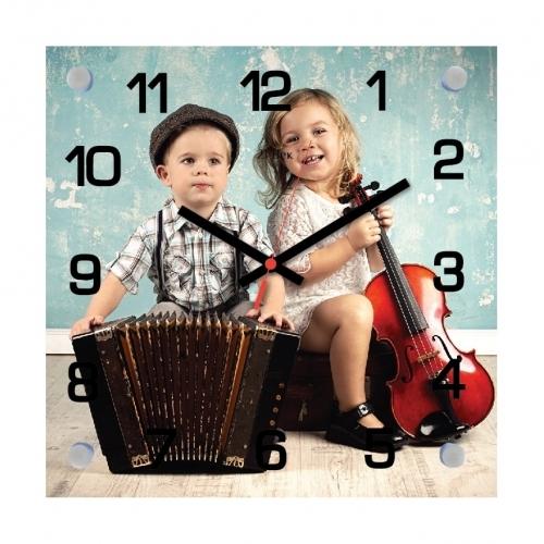 """Часы настенные """"Дети и музыка"""""""